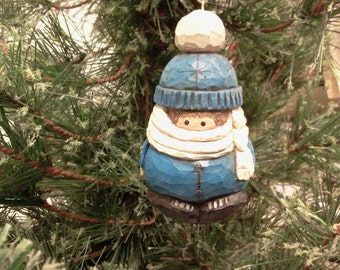 Baby in a Blue Snowsuit Ornament