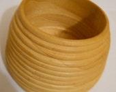 Hand Turned Wooden Honey Pot
