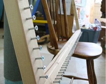 Potholder Rug Loom, Rug Loom, Weaving Loom, with Tutorial