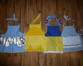 ADULT SIZED Custom Princess or Character theme dress up apron of  your CHOICE princess party