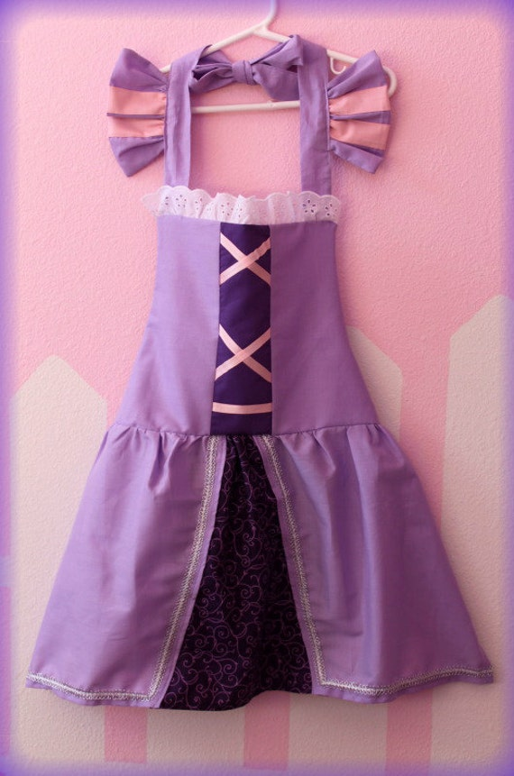 ADULT Sized Tangled Rapunzel Princess inspired dress up Apron princess party