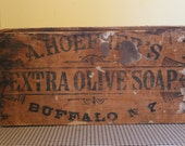 Extra Olive Soap Buffalo NY Wood Crate with Lid