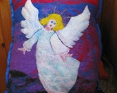 "Gift and decorative felt pillow ""Angel"""