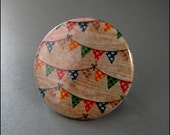 Pinback Button Bunting Colorful Badge by ButtonMunch on Etsy