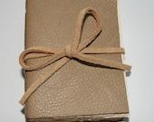 Mini - Beige Leather journal notebook