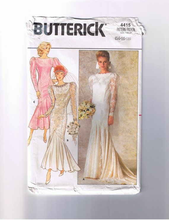 Butterick pattern 4415 wedding dress bridesmaid dress for Butterick wedding dress patterns