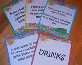 Very Hungry Caterpillar Table Top Food and/or Party Signs