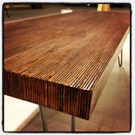 Modern Coffee Table End Grain Baltic Birch On Eames style