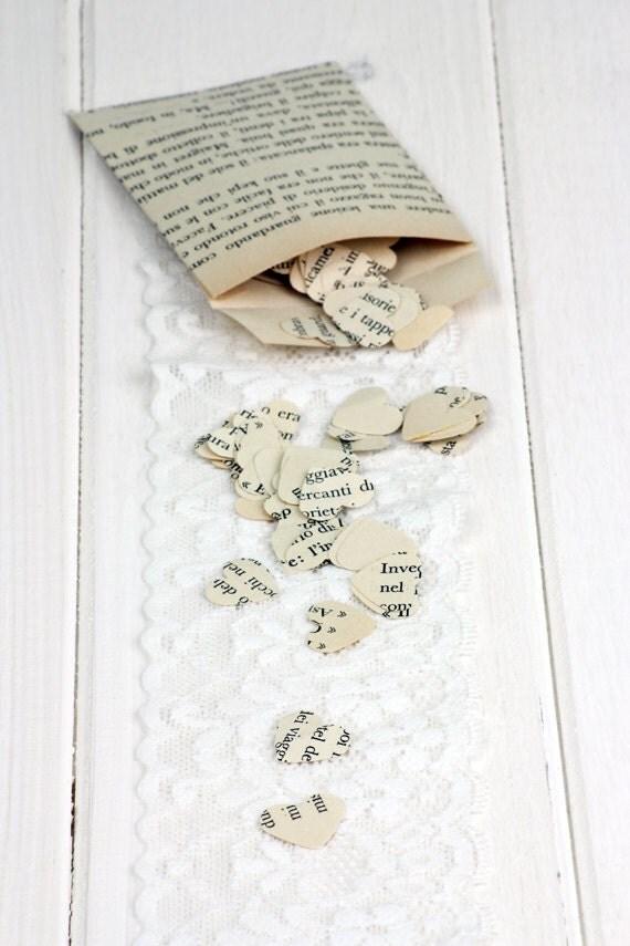 200 vintage hearts of cardboard, die-cut by hand