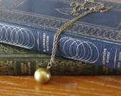 The Old Ball and Chain - Vintage Brass Ball Locket on Long Chain