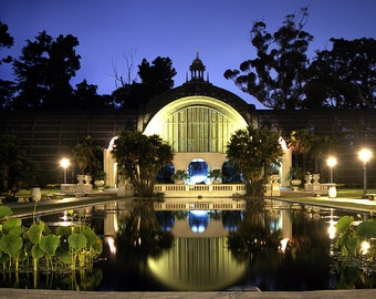 Botanical Garden Balboa Park San Diego At Night Wall Art Canvas Color or Black and White
