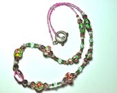 Spring Flowers - Beaded Necklace