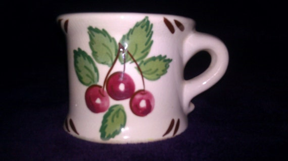 Hand Painted - Half Mug Penny Bank - Maker Unknown - Good Condition