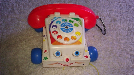 Vintage - 1961 Fisher Price Chatter Telephone - Number 747