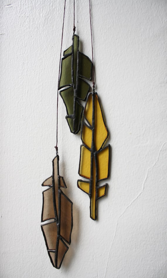Stained Glass Feathers (set of 3)