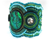 After the Rain, a Bead Embroidered Cuff