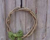 Vine Wreath with Raffia Bow