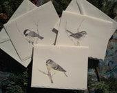 6 Little bird greeting cards