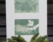 original monoprint nature diptych