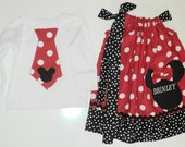 Custom Boutique Brother Sister Minnie mouse set Sizes 0-6mo, 6-12mo, 12-18mo 18- 24mo, 2t, 3t, 4t, 5/6, 7/8