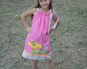 """Baby Girl Easter Dress - """"My Little Chic-A-Dee"""" Custom Boutique - Sizes 0-6mo, 6-12mo, 12-18mo, 18-24mo, 2t, 3t, 4t, 5/6, 7/8"""
