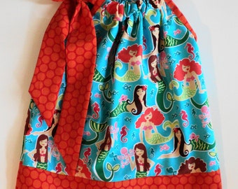 Custom Boutique  Michael Miller Designer Sea Beauties Mermaid Pillowcase dress