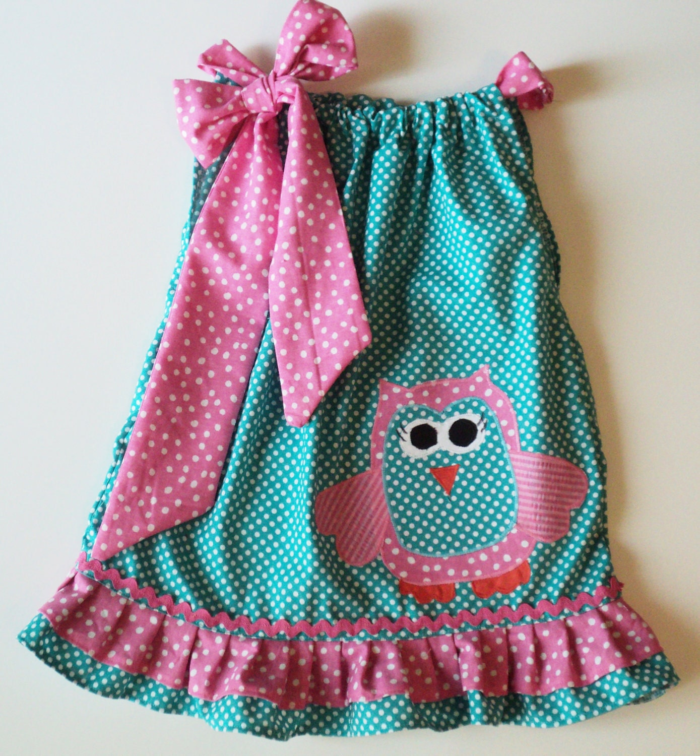Cute Ideas For Pillowcase Dresses : Custom Boutique OWL Pillowcase dress Sizes by Janslittlehearts