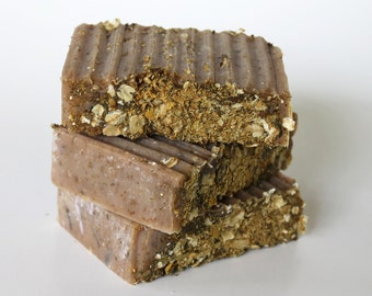Natural Oatmeal Chamomile Goat's Milk Soap Cold Process