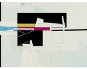 abstract composition art print- mixed media digital collage