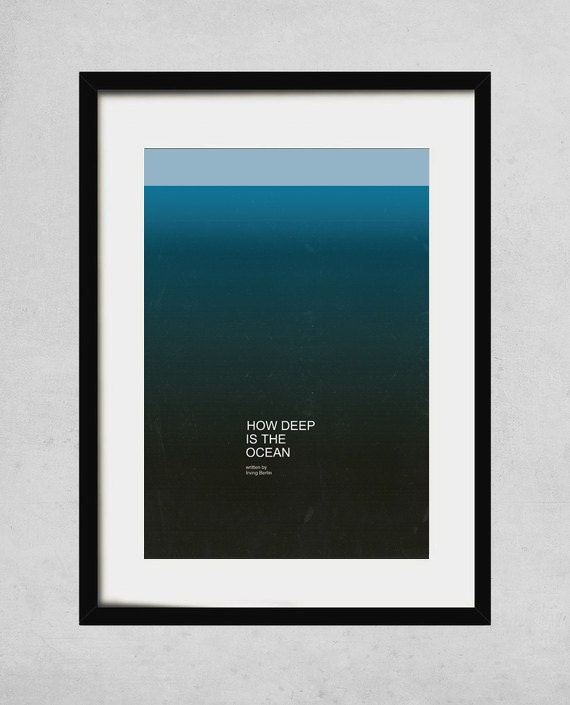 how deep is the ocean - A3 art print - jazz music poster