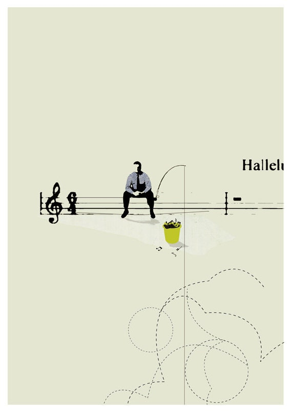 The composer -art print- digital illustration
