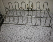 Vintage Retro Steel  Wire  SHOE RACK Marked Down from  24.00