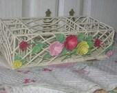 Pretty Flowered Organizer Basket Sweet