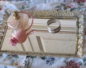 Sweet Gold Tray For Vanity