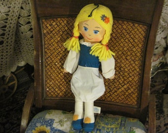 Swiss Miss Cloth  Doll Made for Beatrice Foods 1977  :)S SALE Code CLEARINGOUT25 Must Be Used At Check Out