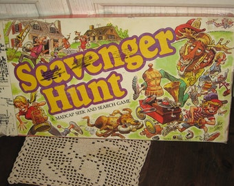 Vintage board Games,Board Games,Toys, SCAVENGER HUNT Board Game 1983 Board Game,Vintage Board Game,Board Game,Family Game Night :)s