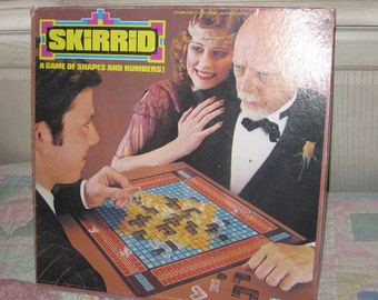 This is the Game SKIRRID A Game of Shapes and Numbers. 1979 BY kenner