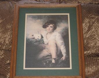 Henry Raeburn Inglis 1814, Boy and Rabbit, Child Picture, Vintage Home Decor, Home Decor, Victorian Decor,