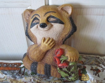 How Cute is Little Racoon Wall Hanging  :)