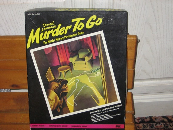 David Landaus MURDER TO GO game by Ideal 1985 :)S