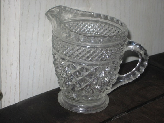 Small Little Crystal Creamer OR Pitcher