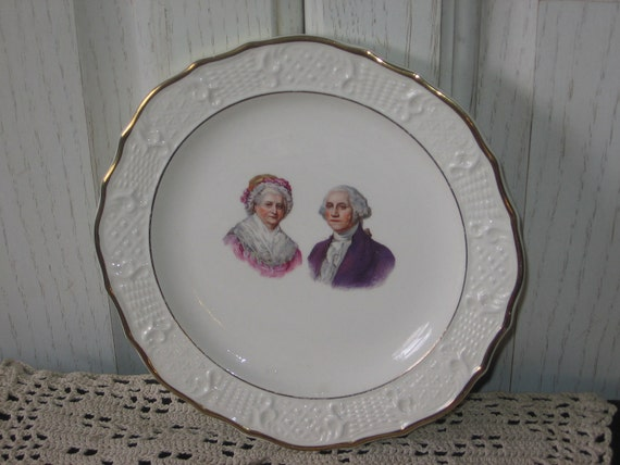 Washington Colonial Made in the USA Plate 7 Inches President  George Washington :)S