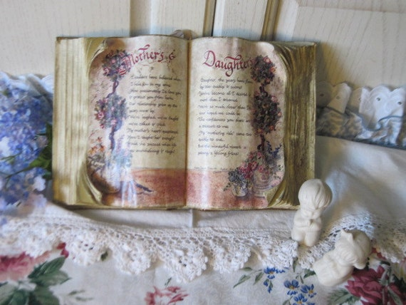 Display Book with Poem Mothers and Daughters Sweet  : )