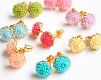 Six Mini Flower Ear Studs 50 Dollars