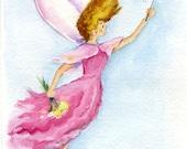 Children's decor, Fairy, Girl's room decor, original artwork