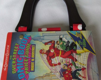 Comic Book Altered Book Purse featuring Flash and Green Lantern