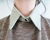 geek graph math paper detachable collar geek chic geekery kitsch SLIGHT FAULT
