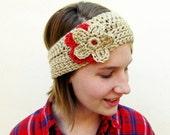 Crochet Flower Earwarmer Headband