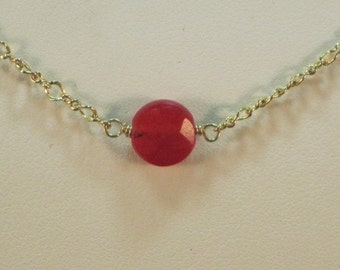 SALE  4 Valentines Day Ruby Red Jade and Gold