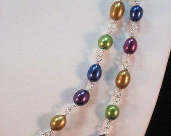 Fresh Water Pearls - Jewel Colors